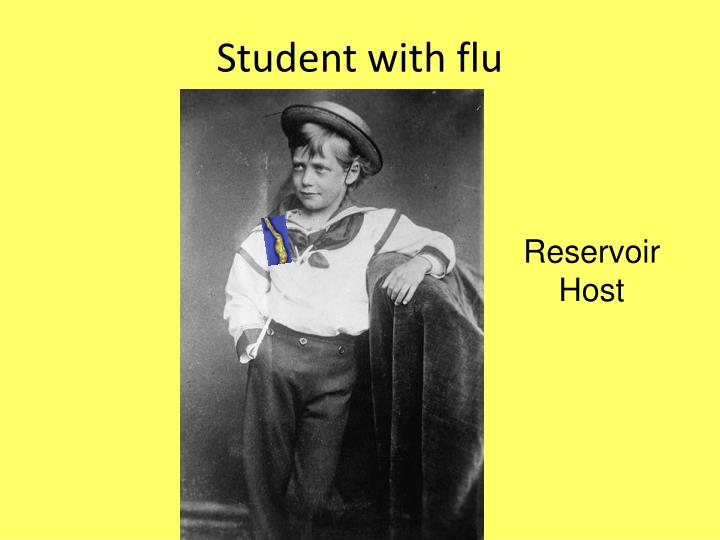 Student with flu
