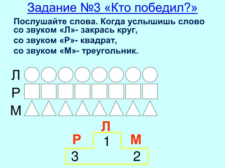 Задание №3 «Кто победил?»