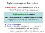 fully homomorphic encryption5