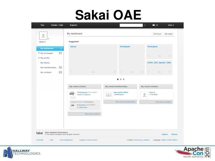 Sakai OAE