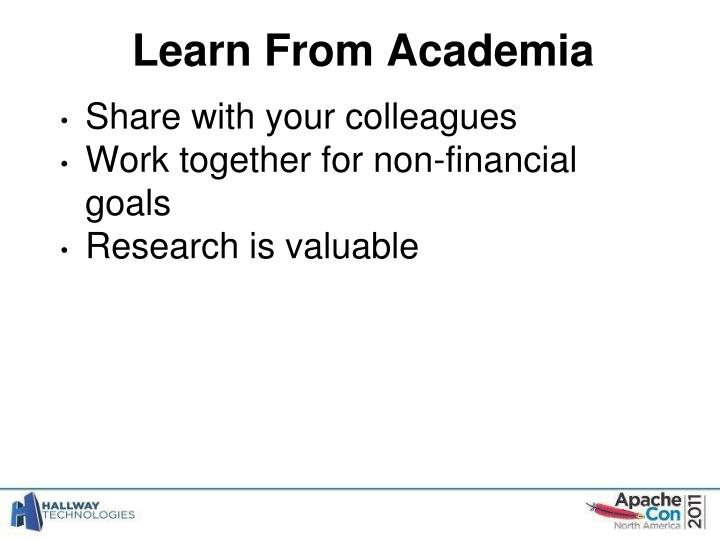 Learn From Academia