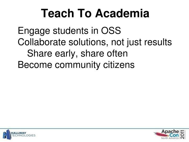 Teach To Academia