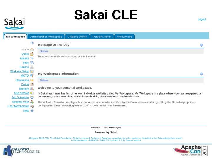 Sakai CLE