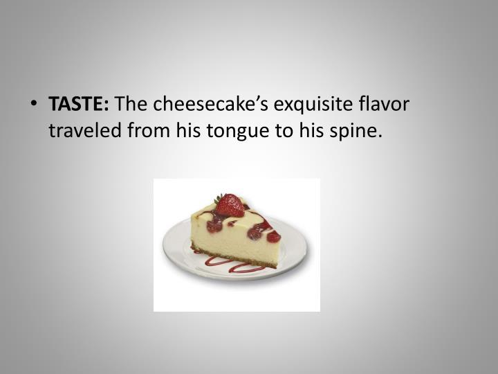 TASTE: