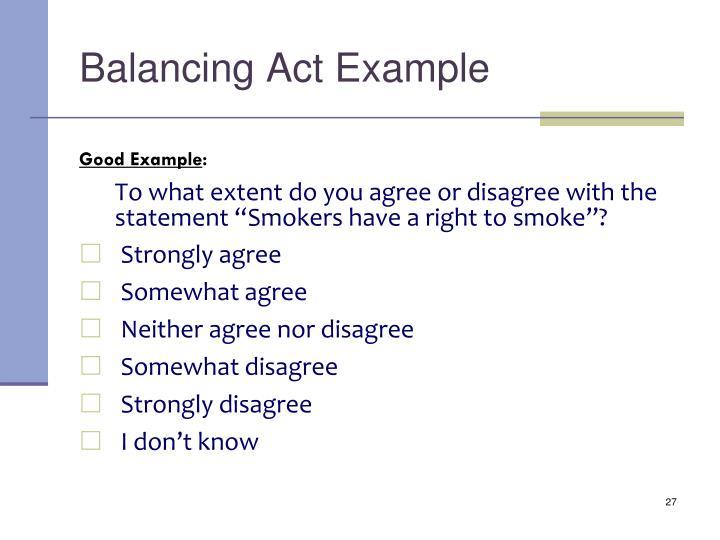 Balancing Act Example