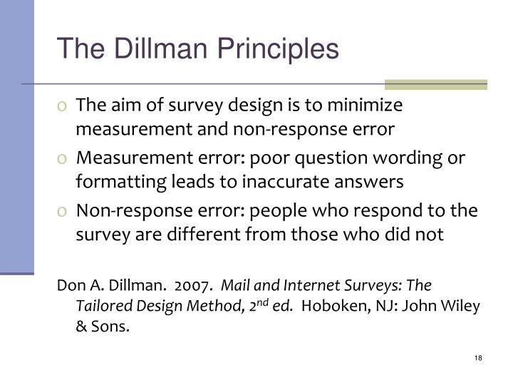 The Dillman Principles