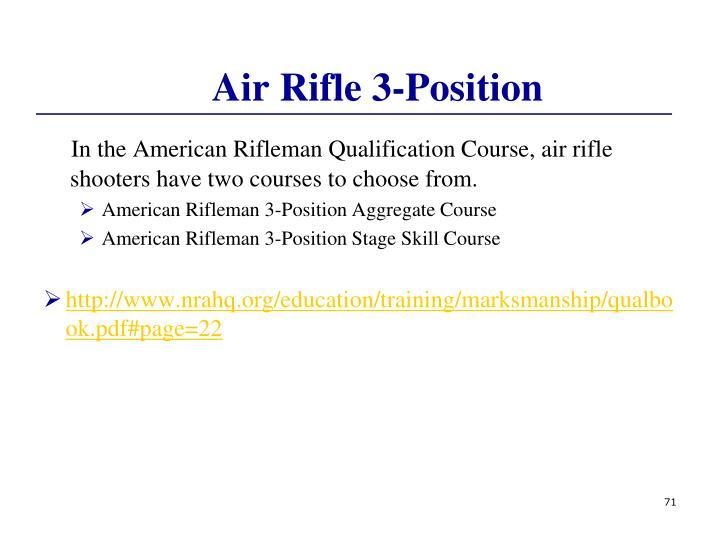 Air Rifle 3-Position