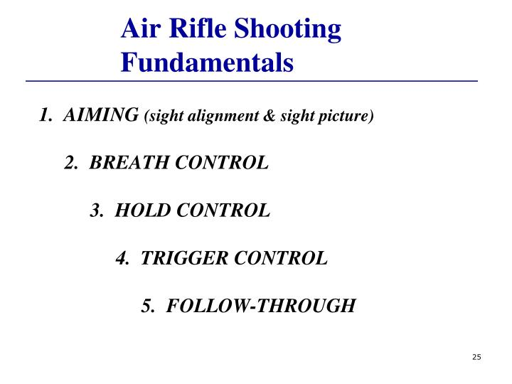 Air Rifle Shooting Fundamentals