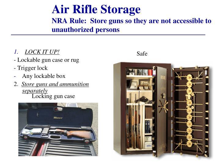 Air Rifle Storage