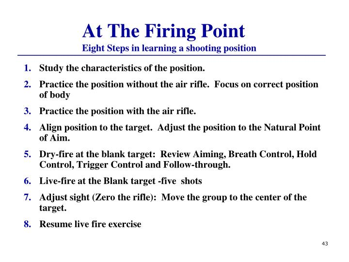 At The Firing Point