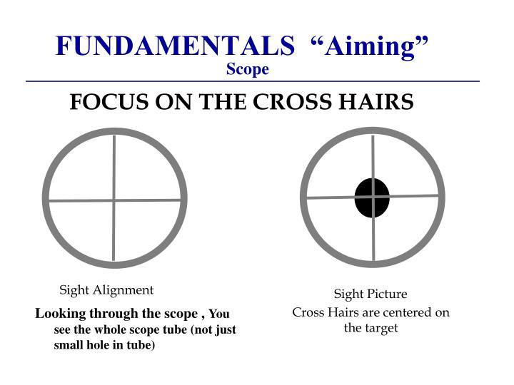 """FUNDAMENTALS  """"Aiming"""""""