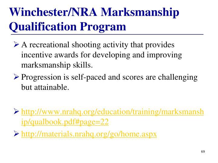 Winchester/NRA Marksmanship Qualification Program