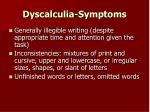dyscalculia symptoms11