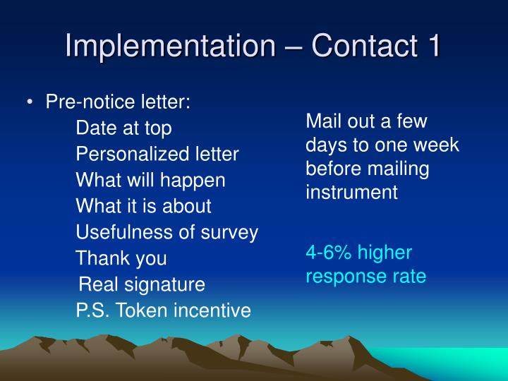 Implementation – Contact 1