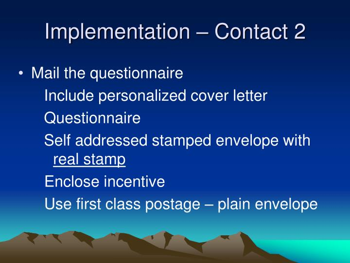 Implementation – Contact 2
