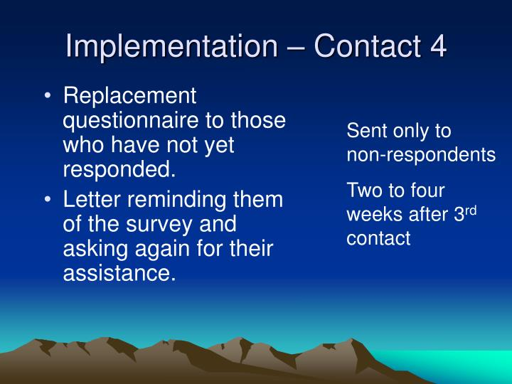 Implementation – Contact 4