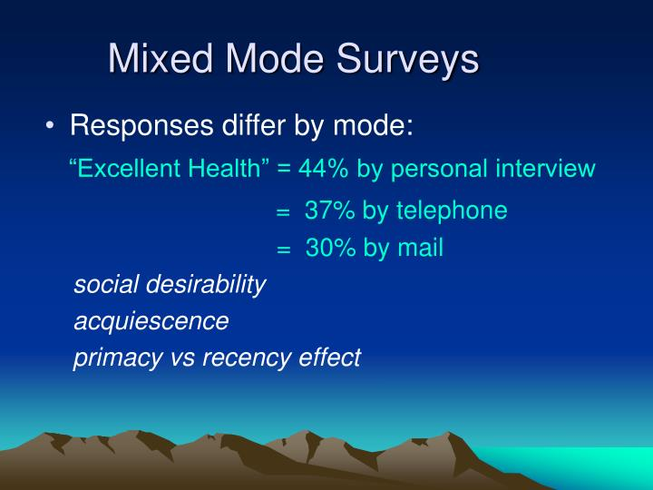 Mixed Mode Surveys