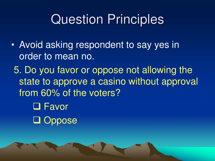 Question Principles