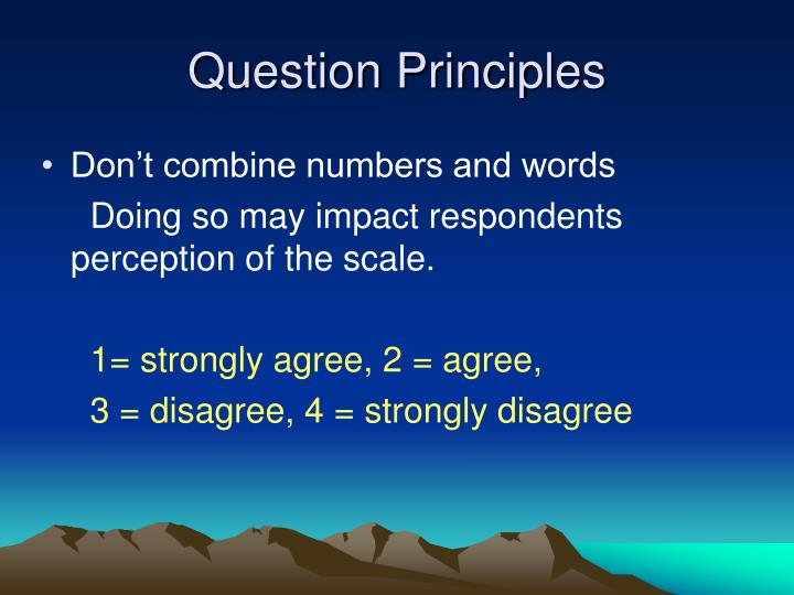 Question Principles