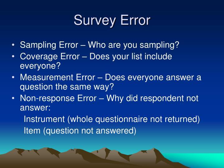 Survey Error