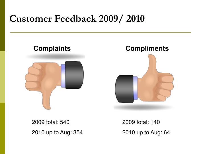 Customer Feedback 2009/ 2010