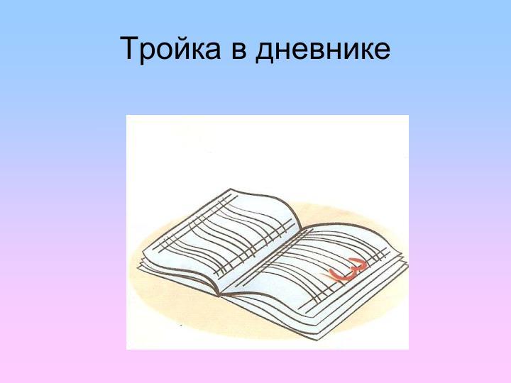 Тройка в дневнике