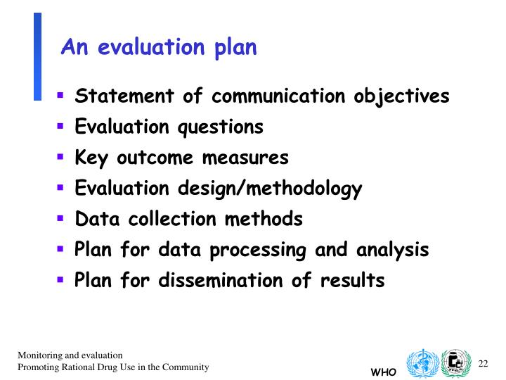 An evaluation plan