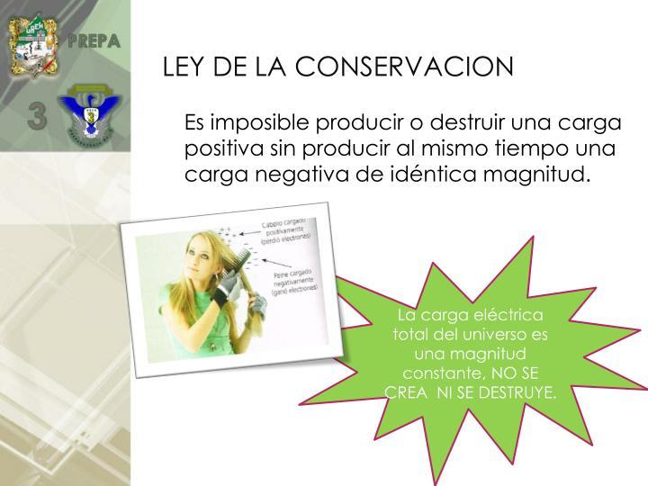 LEY DE LA CONSERVACION