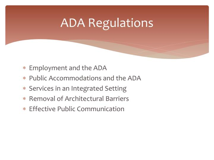 ADA Regulations