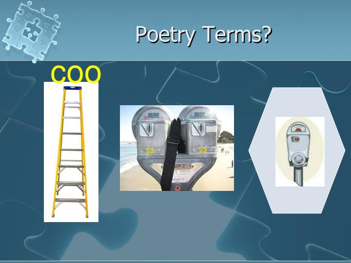 Poetry Terms?