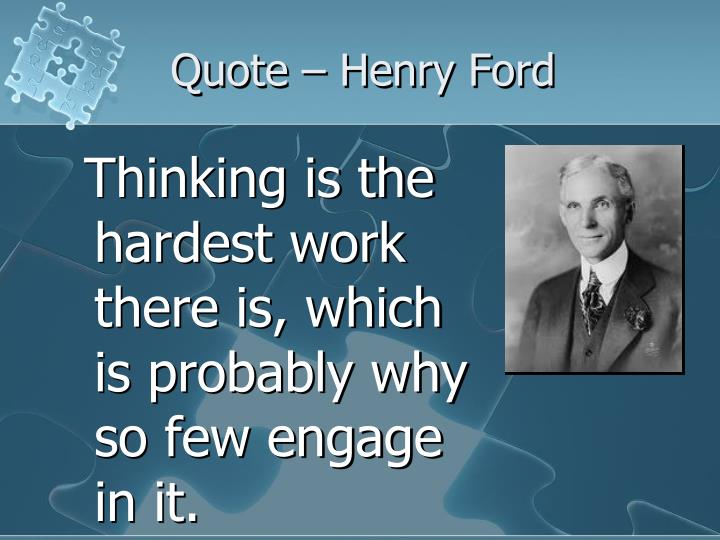 Quote – Henry Ford