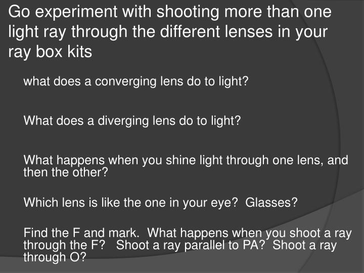 Go experiment with shooting more than one
