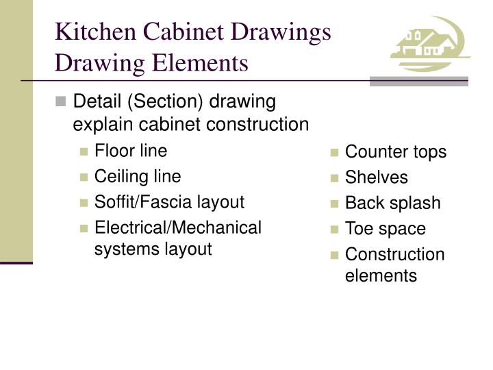Detail (Section) drawing explain cabinet construction