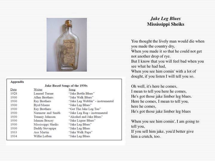 Jake Leg Blues