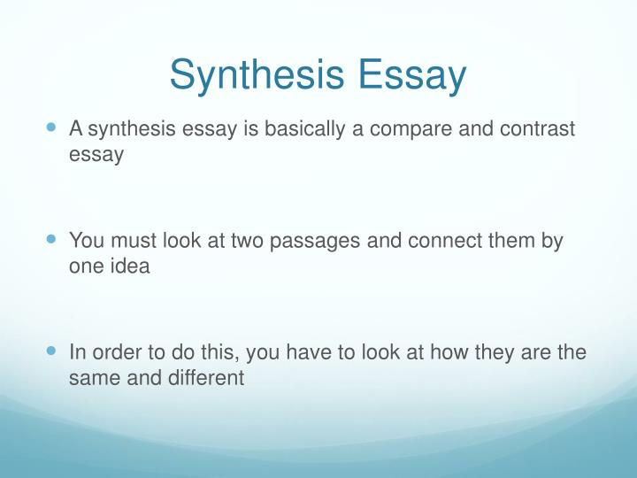 synthesis essay assignments