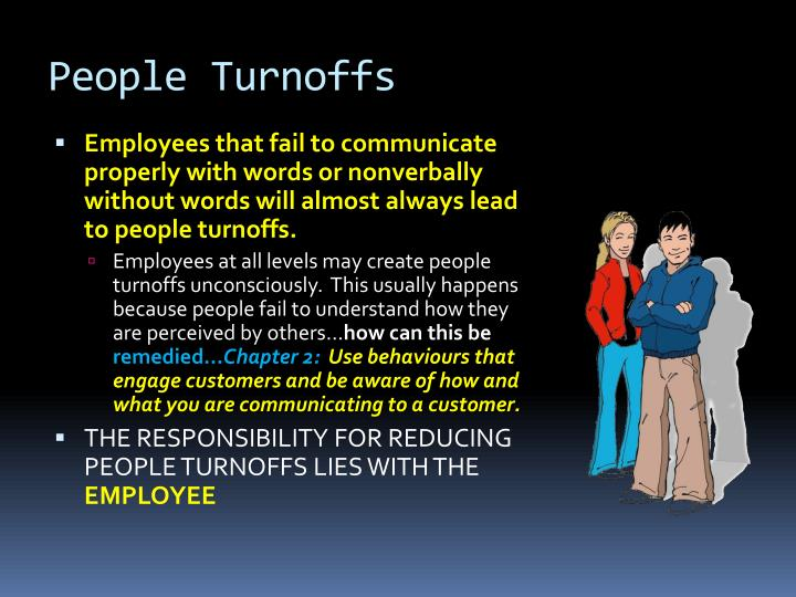 People Turnoffs