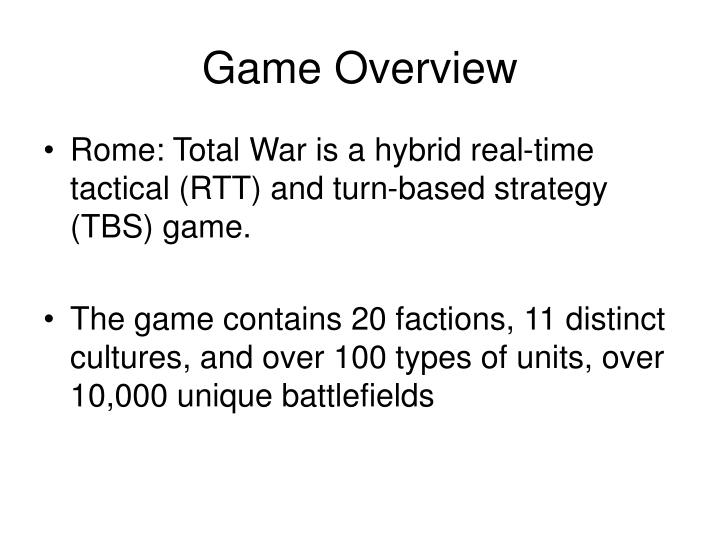 Game overview