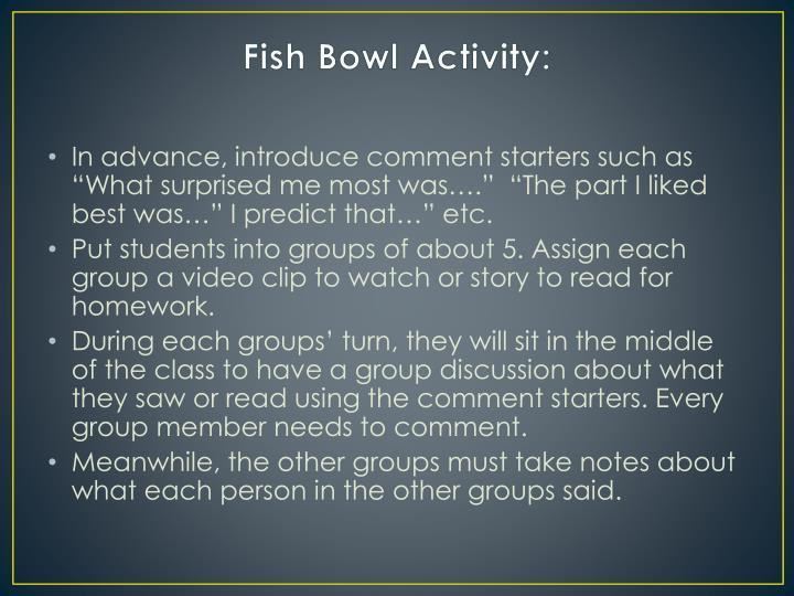 Fish Bowl Activity:
