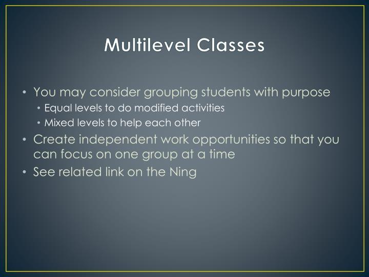Multilevel Classes
