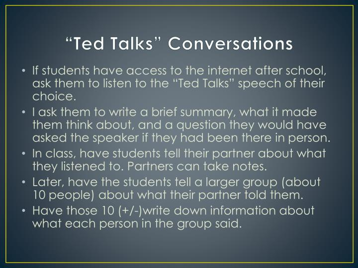 """Ted Talks"" Conversations"