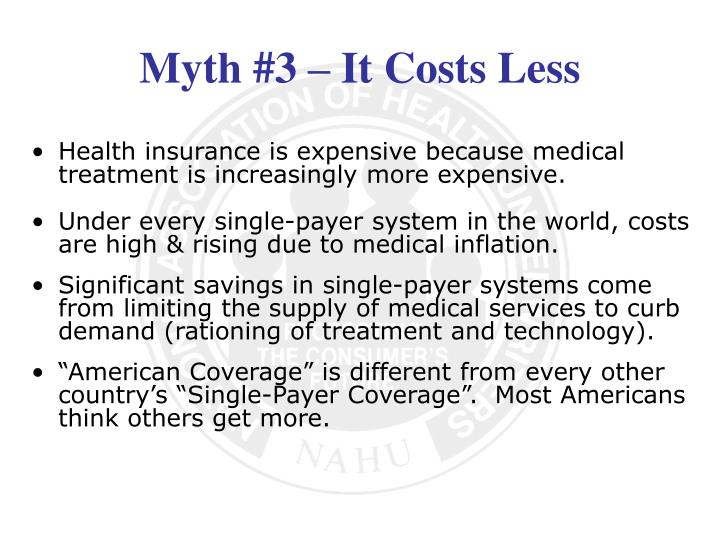 Health insurance is expensive because medical treatment is increasingly more expensive.