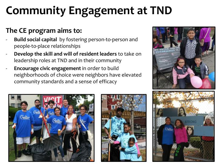 Community Engagement at TND