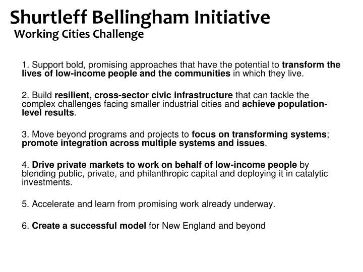 Shurtleff Bellingham Initiative
