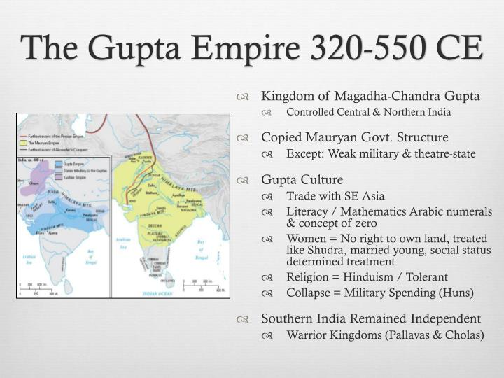 The Gupta Empire 320-550 CE