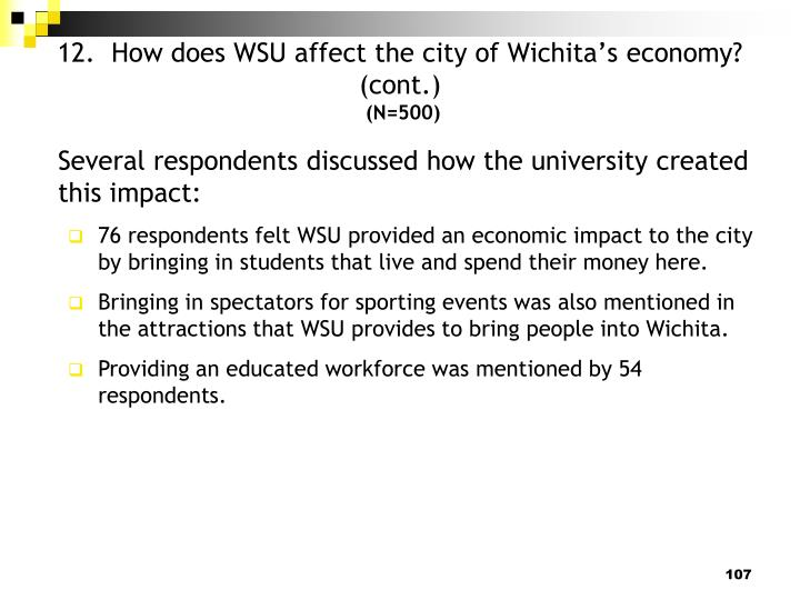 12.  How does WSU affect the city of Wichita's economy?