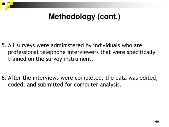 Methodology (cont.)