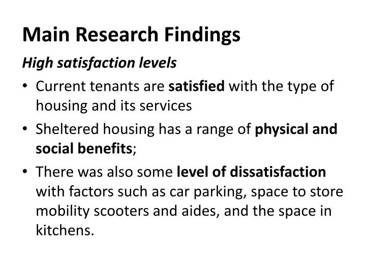 Main Research Findings