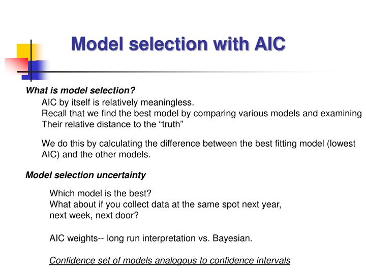 Model selection with AIC