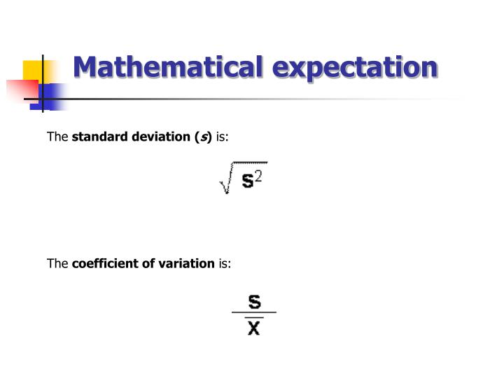 Mathematical expectation
