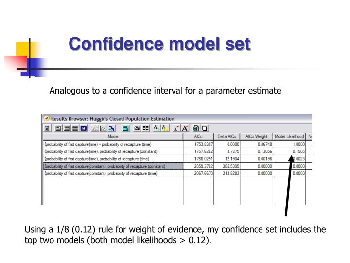 Confidence model set